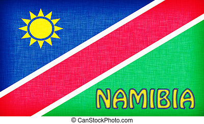 Flag of Namibia stitched with letters
