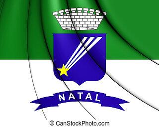 Flag of Natal, Brazil. 3D Illustration.
