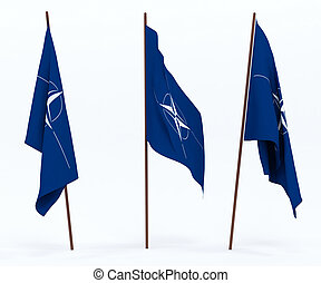 Flag of NATO - The flag of North Atlantic Treaty...