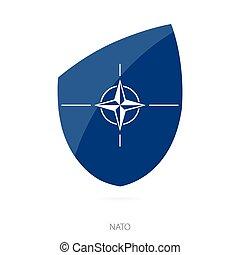 Flag of Nato. Vector Illustration.