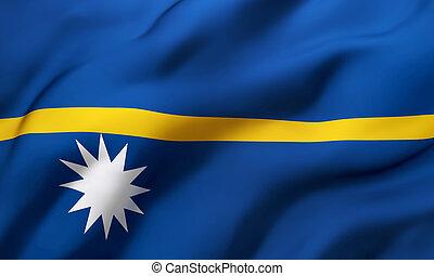 Flag of Nauru blowing in the wind