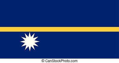 Flag of Nauru in national colors, vector.