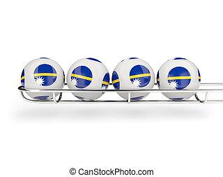 Flag of nauru on lottery balls