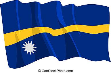 flag of Nauru