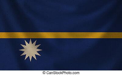 Flag of Nauru.