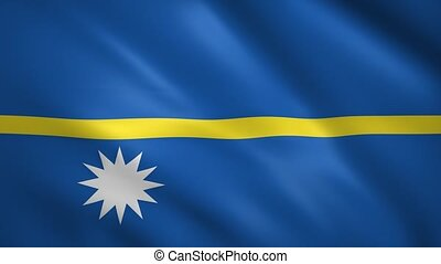 Flag of Nauru waving in the wind