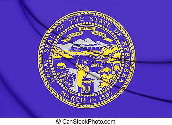 Flag of Nebraska, USA. 3D Illustration.