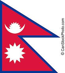 Flag of Nepal.