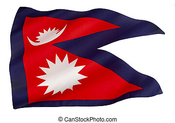Flag of Nepal - The national flag of Nepal