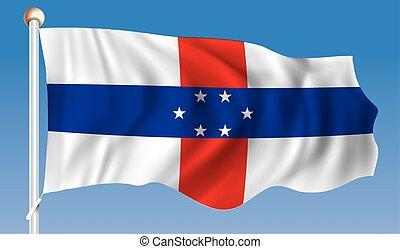 Flag of Netherlands Antilles - vector illustration