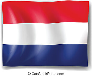 Flag of Netherlands - Illustration of the flag of...