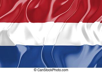 Flag of Netherlands, national country symbol illustration