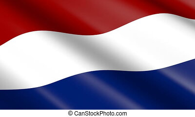 Flag of Netherlands (seamless loop) - great for topics like...