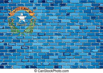 Flag of Nevada on a brick wall