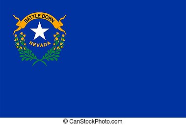 Flag of NEVADA state of the United States.