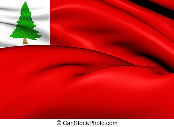 Flag of New England (Pine), USA. - 3D Flag of New England...