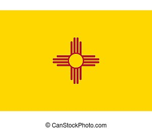 Flag of New Mexico as vector illustration