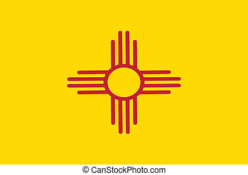 Flag of New Mexico state of the United States. Vector illustration. 10 EPS