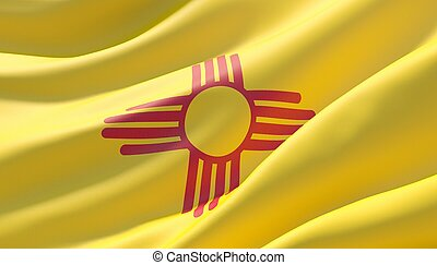 Background with flag of New Mexico