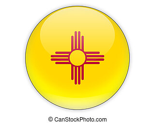 Flag of new mexico, US state icon