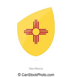 Flag of New Mexico. Vector Illustration.