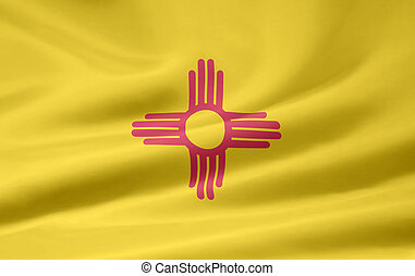 Very large flag of New Mexico