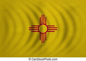 Flag of New Mexico wavy detailed fabric texture