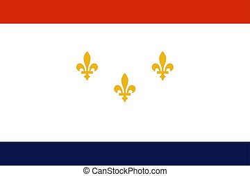 Flag of New Orleans, Louisiana, United States of America. Vector illustration