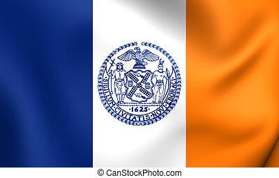 Flag of New York City, USA.