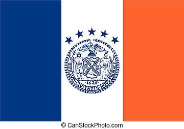 Flag of New York City, USA. Vector Format