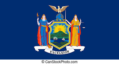 Flag of New York correct size color illustration