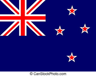 Flag of New Zealand, national country symbol illustration