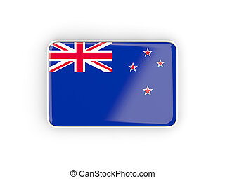 Flag of new zealand, rectangular icon