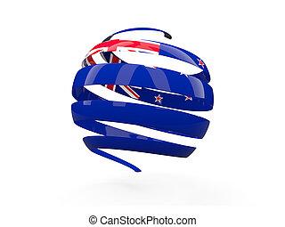 Flag of new zealand, round icon