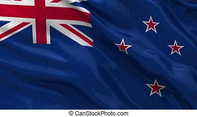 Flag of New Zealand seamless loop