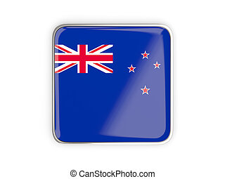 Flag of new zealand, square icon