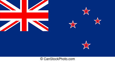 Flag of New Zealand vector in eps10