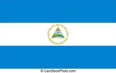 Flag Of Nicaragua - 2D illustration of nicaragua flag color ...
