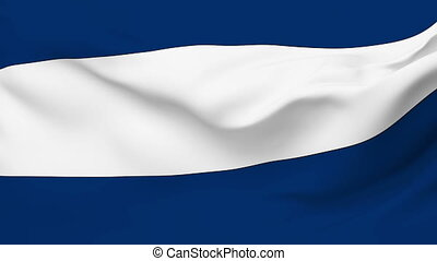 Flag of Nicaragua - Flag of the Nicaragua waving in the...