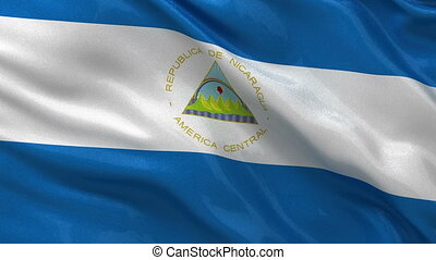 Flag of Nicaragua seamless loop - Flag of Nicaragua gently...