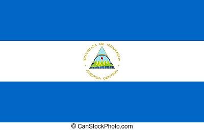 flag of Nicaragua Vector illustration