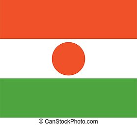 Flag of Niger vector illustration