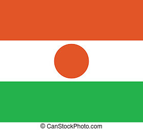 Flag of Niger vector illustration