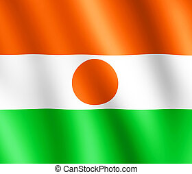 Flag of Niger waving in the wind