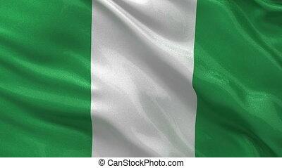 Flag of Nigeria seamless loop