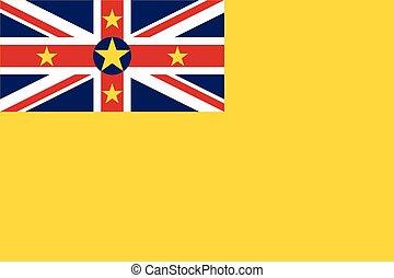 Flag of Niue. Vector Format