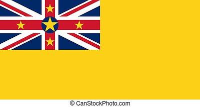 Flag of Niue vector illustration