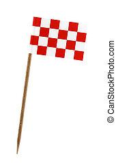 Flag of Noord Brabant - Tooth pick wit a small paper flag of...