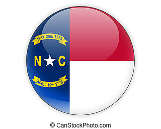 Flag of north carolina, US state icon