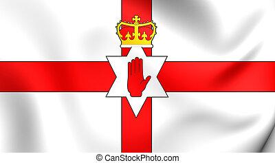 Flag of Northern Ireland. Close Up.